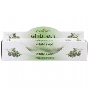 ELEMENTS  INCENSE- WHITE SAGE  -BOX OF  6 PACKS
